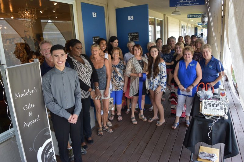 Crowd Attending Madelyn's Boutique Opening